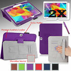 PU Leather Case Cover Stand For Samsung Galaxy Tab4 10.1 inch T530 w/ Hand Strap