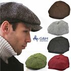 G&H Herringbone 8 Panel Hat Newsboy Peaky Flat Cap Gatsby Mens Women Great Horse
