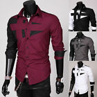 Men's Noble Luxury Casual Slim Fit Stylish Dress Shirts Long Sleeves Thicken New