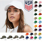 Womens Plain Baseball Cap Blank Adjustable Solid Hat Curved Visor One Size New