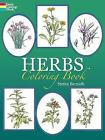 Dover Adult Coloring Book Herbs by Stephen Bernath Stress Relief Travel NEW