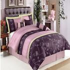 7pc Grand Park Purple Bed in a Bag Comforter Set with Bon...