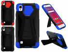 WHOLESALE 5X LOT For LG Tribute HD LS676 X Style Hybrid T Kickstand Cover Case