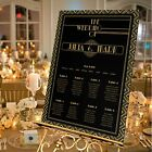 Personalised Wedding Table Seating Plan-GOLD-ART DECO/GATSBY-4 SIZE OPTIONS
