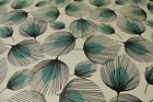 Teal and Black Feathers PVC Easy Wipe Clean Tablecloth 140cm Wide