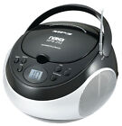Naxa Portable MP3-CD Player with AM-FM Stereo Radio (NPB-252) Black
