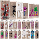 Pattern Rubber Soft Silicone TPU Clear Back Case Cover Skin For Samsung Huawei