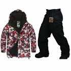 Southplay Winter Waterproof Skiing- Snowboard (Red Military Jacket , Pants)