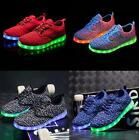 LED Glow in The Dark Shoes Light Up Shoes Sneakers For Women Men Boy Girl Kids
