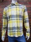 MENS DUCK AND COVER LONG SLEEVE 'HEMLOCK' CHECK SHIRT IN CITRON (YELLOW)