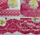 "Fuchsia Lace Trim 3-28 Yds, 1-1/4""-3-1/2"" 009BV Your Choice Added Trims ShipFree"