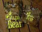 Papa Bear and Baby Bear Realtree Camouflage t-shirt gift set with FREE SHIPPING