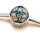 925 Sterling Silver Patterns of Frost Multi-Colored Fit European Charm Bracelet