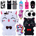 For Apple iPhone 6s 7 7 Gain 3D Cute Cartoon Silicone Rubber Soft Case Cover