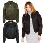 Brave Soul Ladies Oslo Bomber Jacket Womens Designer Padded MA1 Zip Up Coat