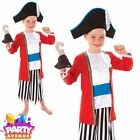 Captain Pirate Outfit Boys Pirate Fancy Dress Costume Hat and Hook