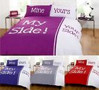 My Side Your Side Mine And Yours Half And Half Duvet Cover Quilt Bedding Set