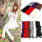 Fashion Women Girl Winter Warm Knee High Socks Knit Crochet Knee-high Stockings
