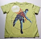 Boys CRAZY 8 green t shirt NWT 4 or 5-6 baseball flame pitcher lime sports top