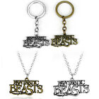 Harry Potter Fantastic Beasts and Where to Find Them Keychain Necklace Xmas gift