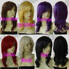 20 in. Free Shipping Long Hair Heat Resistant Big Wavy Cosplay Wig Synthetic 35G