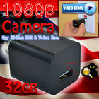 1080P Spy Camera UX-6 ScoutOut DVR AC Adapter USB Wall Charger 32GB Surveillance