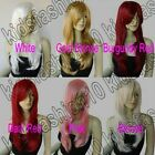 26 in. Long Free Shipping Razor Cut Face Framing Natural Cosplay Wig Synthetic 7