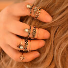 Trendy Gold Silver Plated Rings Women Fashion Bague Femme Knuckle Finger Ring