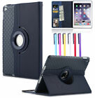 "For iPad 2 3 4/Air 2/Pro 9.7"" 360 Rotating Smart Leather Wallet Stand Case Cover"