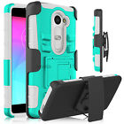 For LG Hybrid Cell Phone Armor Case With Kickstand Swivel Belt Clip Phone Cover