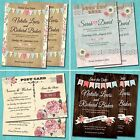 Personalised Wedding Save the Date Cards with Envelopes - Vintage