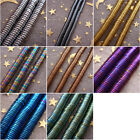 Hot 2-6mm Gold Silver Rainbow Blue Violet Copper Green Hematite Coin Loose Beads