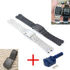 Steel Pebble Watch Band+Tools 20mm Steel Metalic For Stainless Smart Watch