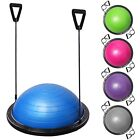 Yoga Balance Ball Trainer Fitness Gym Strength Exercise Workout w/ Pump INCD VAT