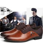 Men's Dress Formal Pointy Toe Oxfords Leather shoes Business Casual US Size6-12