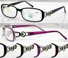 L291 Superb Quality Womens Optical  Reading Glasses/Diamante Metal Detailed Arms