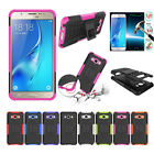 Rubber Hybrid Rugged Shockproof Stand Back Cover Case For Samsung Galaxy J7 2016