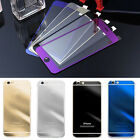 Mirror Effect Front+back Color Temper Glass Screen Protector For Iphone X 8 7 6