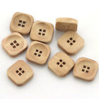 Circle square Shape Wood buttons Show Applique DIY Craft Sewing Buttons