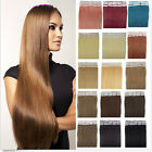 "16"" Remy PU Tape In Real Straigt Human Hair 20pcs/30g Extensions Skin Weft Hair"