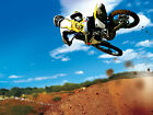 MOTORCROSS 02 FRAMED CANVAS ART PRINT A0 A1 A2