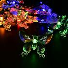 Solar 15ft 20 LED Bling Butterfly Light String Lamp Porch Lawn Party Fairy Light