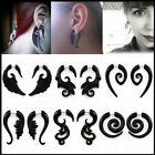 Acrylic Fake Cheater Ear Stretcher Expander Spiral Taper Plugs hook Gauge 1 Pair