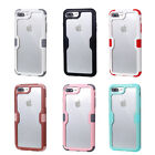 10pcs/lot Sup TPU+PC Armor Clear Hybrid Shockproof Case For iPhone 7 i7 plus