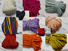Quality 5 Metres Nylon Braided Cord Thread Twine 4mm MANY COLOURS