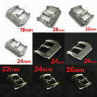 HQ 316L SS PRE-V Screw-in Buckle Silver for Panerai Leather Watch Band Strap