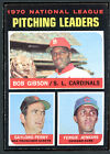 1971 Topps #70 N.L. Pitching Leaders Bob Gibson Gaylord Perry EXMT 88169