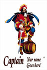 Personalised Captian Morgan Spiced Rum' Tin sign. Great Present for mancave,Bar