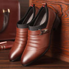Newest Men's Pointed oxfords Leather Shoes Fashion Wedding Formal Occasion