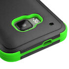 For HTC One M9 Hybrid TUFF Rubber Hard Protective Cover Case